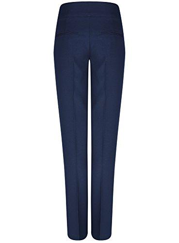 oodji Ultra Damen Klassische Hose mit Bügelfalten Blau (7900N)