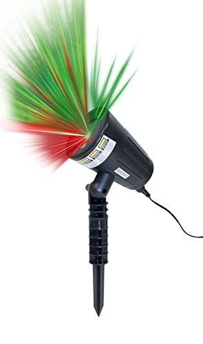 DIRECT TV OUTLET Motion Laser Light Visto en TV Foco Láser de Luces en Movimiento 2 Colores Rojo y Verde Luz Nocturna para Casa, Fiesta, Navidad, Cumpleaños