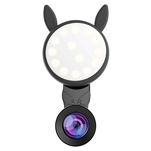 Plzlm Selfie Ring Licht Runde Wiederaufladbare tragbare Clip-on-Typ Handy LED-Leuchten Lampen-Objektiv -