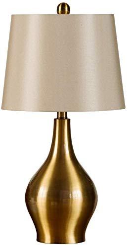 Lámparas de mesa modernas de hierro forjado dorado con pantalla de ...