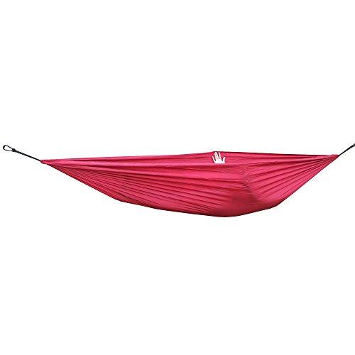 Hamac en Nylon Parachute Portable pour Voyage Camping en Plein Air - Rouge Vineux
