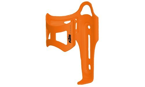 KTM Alu MTB Fahrrad Flaschenhalter - Seitliche Entnahme - Orange (5-392)
