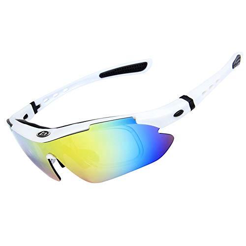 CHUSHENG Polarisierte Sport-Sonnenbrille mit 5 austauschbaren Gläsern für Unisex-Brillen, Fahren, Angeln, Golf, Outdoor-Ausrüstung,6