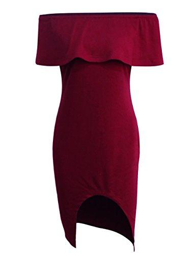 sunifsnow-indumenti-da-notte-linea-ad-a-basic-maniche-corte-donna-red-wine-xx-large