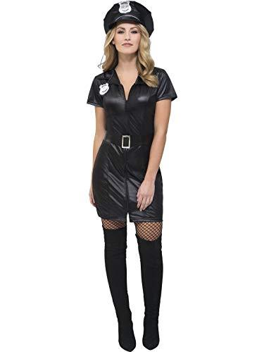 Power Kostüm Hot Girl - Sexy Polizistin Kostüm Gr.S - Hot Cop Girl - verführerisches Kostüm für Damen - Fasching Karneval Mottoparty