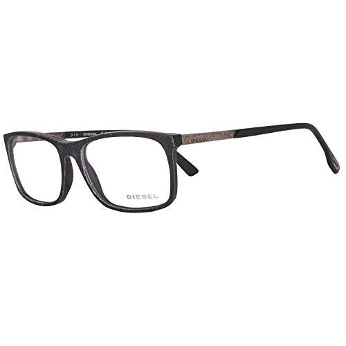 Diesel Unisex-Erwachsene Brillengestelle Brille DL5166 001 53, Schwarz
