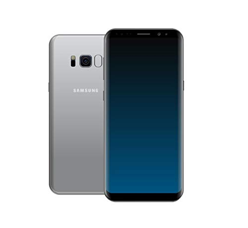 Samsung Galaxy S8 Smartphone (5,8 Zoll (14,7 cm) Touch-Display, 64GB interner Speicher, Android OS) arctic silver(Generalüberholt) -