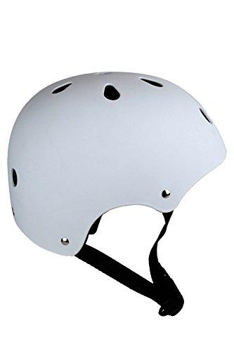 Skullcap BMX Helm  Skaterhelm  Fahrradhelm , Herren | Damen, schwarz matt & glänzend (White mat, S (51-54 cm))