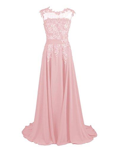 Fanciest Women's Appliques Lang Ballkleid Abendkleider Homecoming Kleid Brautjungfernkleider Minze Blush