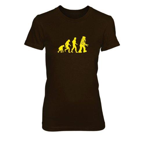 TBBT: Robot Evolution - Damen T-Shirt Braun