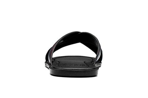 OPP Homme Sandales de la Mode Chaussures en Cuir Nouvelle Collection OT172101-Gris