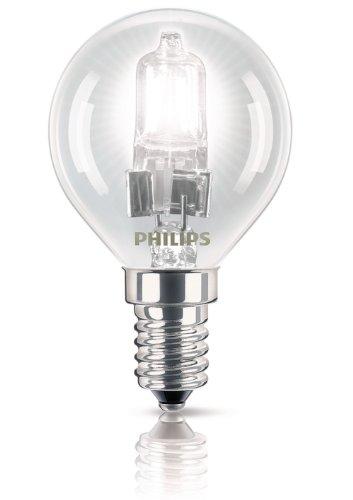 Philips EcoClassic Ampoule halogène brillante Culot à vis E14 P45 Compatible variateur d'intensité Blanc chaud, blanc, E14 (Small Edison Screw) 28 wattsW 240 voltsV