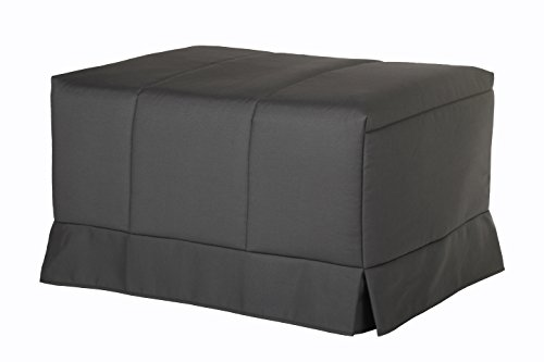 Quality Mobles - Cama Plegable Individual de 80x190 cm Funda Color Gri