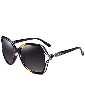 LIZHIQIANG Gafas De Sol Redondas De La Cara De La Manera Gafas De Sol Polarizadas Gafas De Sol Largas De La Cara...
