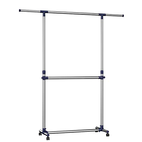 SONGMICS - Soporte Barra Ajustable Colgar