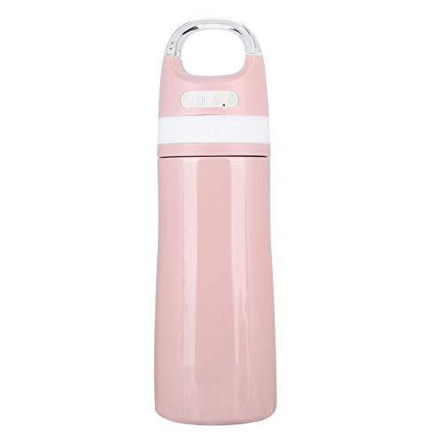 Garsent Bluetooth Lautsprecher Wasserflasche, 450ml vakuumisolierte Edelstahlflasche mit wasserdichtem Bluetooth USB Musik Speaker Thermoskanne für Freizeit und Sport(rosa) - 450 Thermoskanne