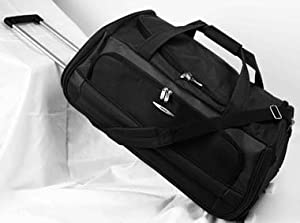 Jeep Wheeled Holdalls 24 inch Luggage Bag on Wheels Black 972