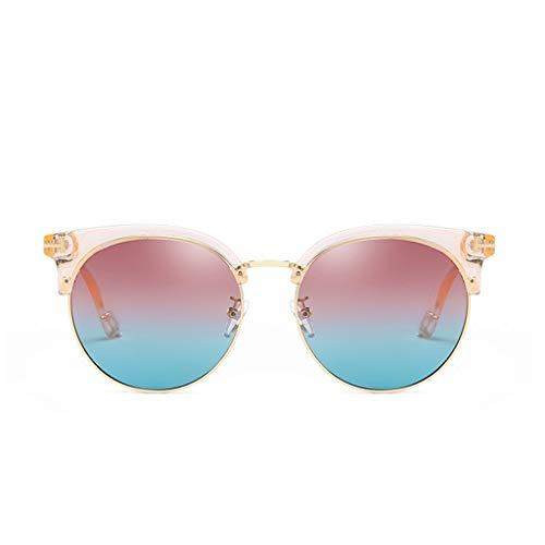 BAIF Sonnenbrillen Weibliche Anti-UV The Tide Vintage Polarisiertes Licht Rundes Gesicht Netzwerk Red Star Models Sonnenbrillen Sonnenbrillen (Farbe: D)