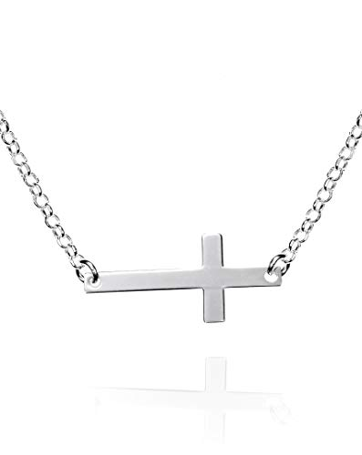 f320005c1f34 EMPATHY JEWELS Collar Mujer Cruz De Plata - Colgante