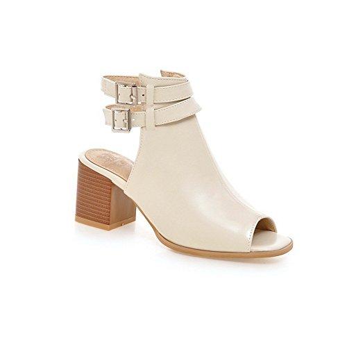 Adee da polsino alla caviglia, da donna, a punta aperta, in poliuretano Beige (beige)