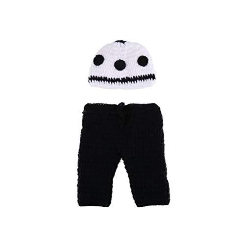 YeahiBaby Neugeborene Fotografie Outfits Kostüm Weihnachten Bekleidungsset Baby Stricken Fotografie Requisiten mit Fußball Design (Neugeborenes Baby Fußball Kostüm)
