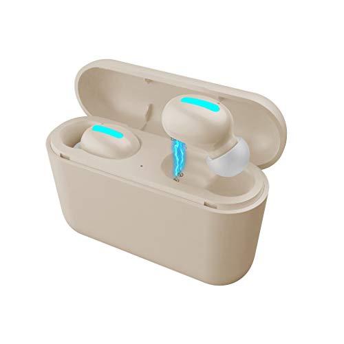 TianranRT❄ Sport Bluetooth Headset,True Bluetooth Wireless Kopfhörer 5.0 Kopfhörer Tws Stereo Headset Hochwertiger Sound Sport Wasserdicht,Khaki - Persimmon Blume