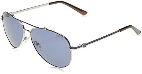 Guess Damen GF6016_10V Sonnenbrille, Schwarz (Nero/argento), 60