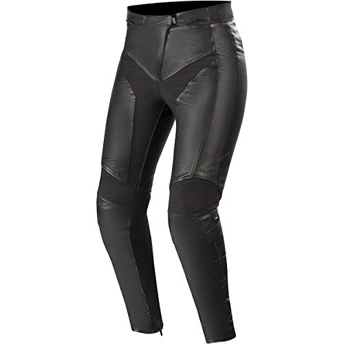 Alpinestars Motorradhose Vika V2 Womens Leather Pants Black, Schwarz, 40