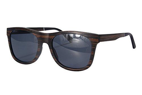 SHINU Holz Sonnenbrille Polarisierte Sonnenbrille UV400 Schutz Herren Sommer Eyewear-SH73007