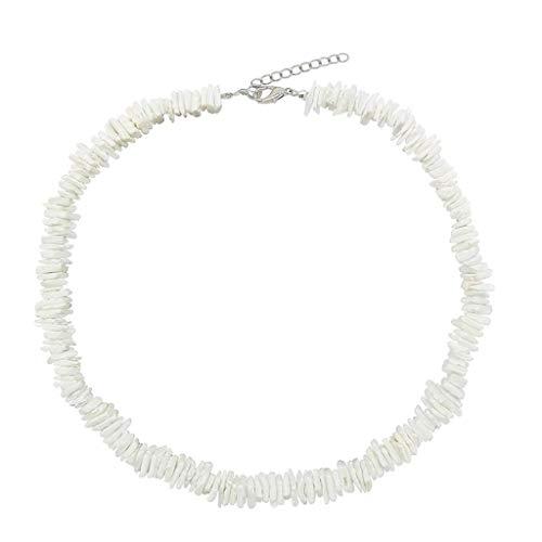 TIREOW Sommer Einfache Strand Shell Halskette Muschel Halsketten Schmuck Kette für Frauen Mädchen (45)