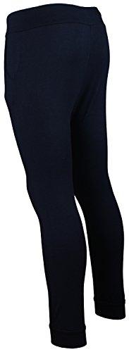 Pantalon Femme Harem Sarouel Patalon Jersey Sport Yoga | Taille M - XXXL Navy Reißverschluss