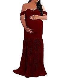 DHLP Vestido de Maternidad Mujer Fiesta Largos Boda Mujer Embarazada Vestidos Faldas de Maternidad Apoyos de Fotografía Playa
