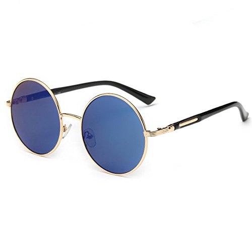 Z-P New Style Metal Round Frame Anti-UV Vintage Geek Unisex Sunglasses 54MM