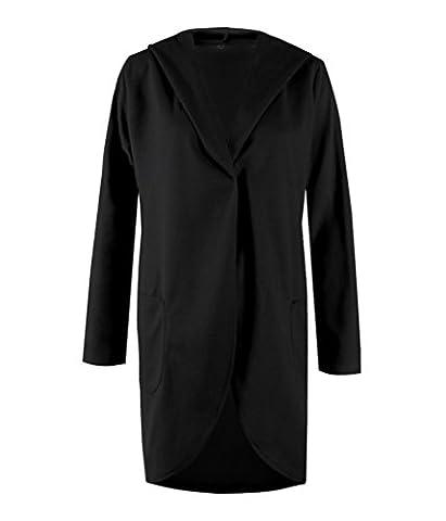 SunIfSnow - Manteau - Duffle coat - Uni - Manches Longues - Femme - noir - XXX-Large