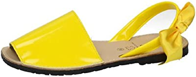 Ibicenca charol lazo MADE IN SPAIN SANDALIAS PIEL