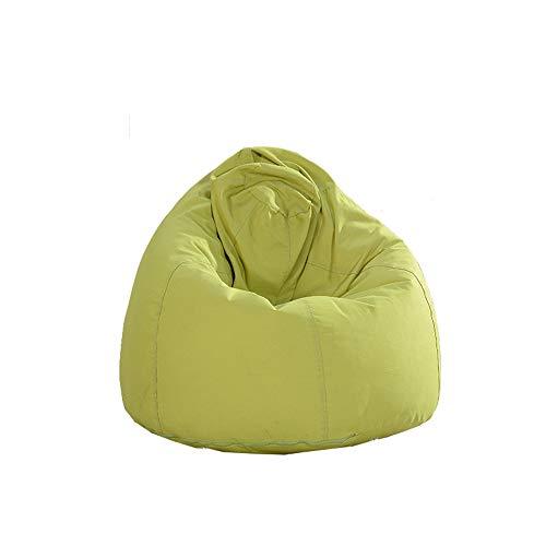 Yangxuelian-Home Faules Sofa Abnehmbares waschbares Sofa Lazy Bean Bag Sofa Single Zur Verwendung als Gaming Chair Meditationsstuhl (Farbe : Grün, Größe : 80 * 100cm) (Bean Bag Chair Grün)
