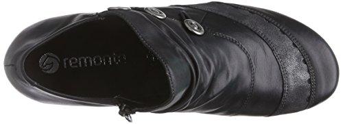Remonte Dorndorf - D7348, Scarpe col tacco Donna Nero (Schwarz (schwarz/graphit / 01))