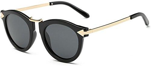 OYMI Fashion Black Metal Frame Wayfarer Unisex Polarised Sunglasses for Women Men UV400