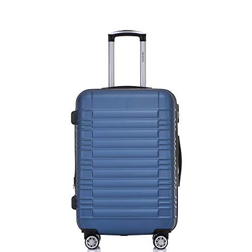 BEIBYE 2088 Zwillingsrollen Reisekoffer Koffer Trolleys Hartschale M-L-XL-Set in 13 Farben (Blau, M) - 2