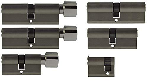 Set6 6x Zylinderschloss gleichschließend verschiedene Größen 1x40mm 1x80mm 1x 70mm / 1x70mm 2x80mm mit Knauf inkl.10x Schlüssel