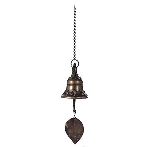 ammoon Wind Chime Bronze Tibetan Wind Chime Bell Décor intérieur en plein air pour le bouddhisme Méditation bouddhiste Prière