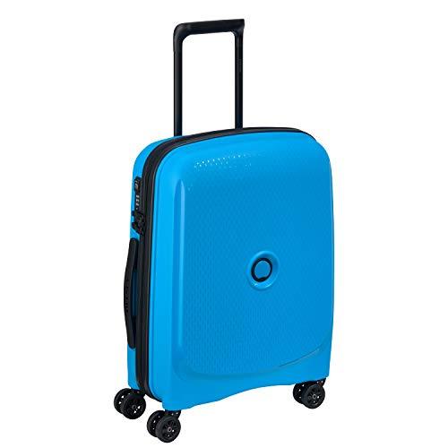 Delsey Reisetasche (DELSEY PARIS Belmont Plus Koffer, 55 cm, 33 liters, Blau (Bleu Metallique))