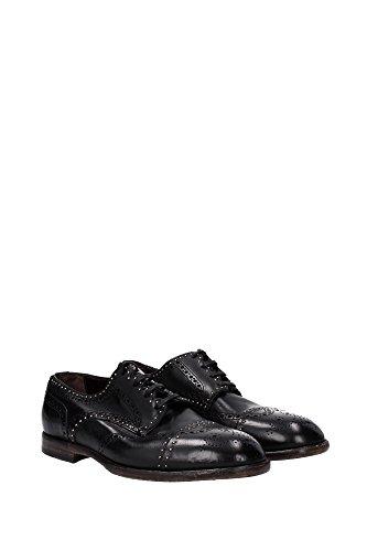 A10031A182880999 Dolce&Gabbana Derby Homme Cuir Noir Noir