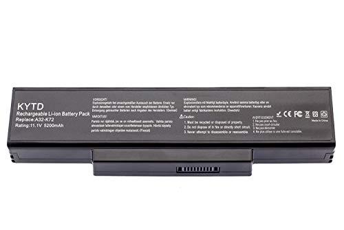 KYTD A32-K72 Batterie pour ASUS K72 K72F K72J K72JR K73 K73S K73SV N71 N73 N73S N73SV X73 X73E X73S Ordinateur PC Portable (6 Cellules 5200mAh 10.8V)