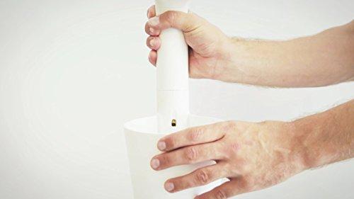 Citysens - Giardino verticale modulare con auto-irrigazione smart, bianco, 4 vasi