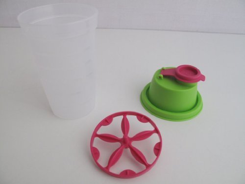 TUPPERWARE fresco-mix mini-vibrador de cuerpo mini-mix-Fix 250 ml coctelera tambaleante verde rosa