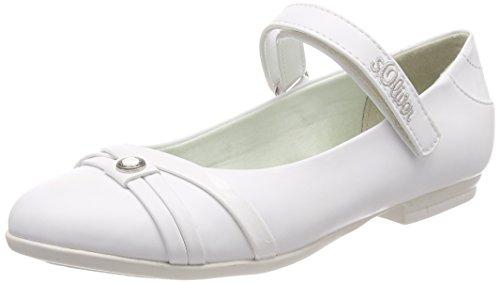 s.Oliver Mädchen 52800 Mary Jane Halbschuhe, Weiß (White), 37 EU