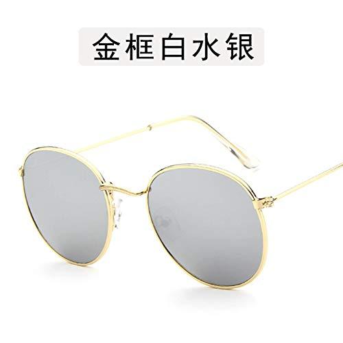 Sonnenbrille Kleine Runde Sonnenbrille Frauen Männer Aviation Auge Sonnenbrille Metallrahmen Sonnenschutz Für Frauen Top Selling Gold Silber