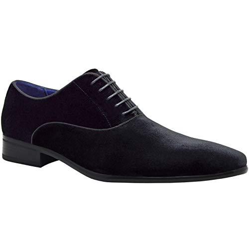 elong Herren Designer-Schuhe aus Lackleder, Schwarz, Gr. 39, 42, 44, 42, 44, 46, 46, Schwarz - Schwarz 3 - Größe: 38 EU (Kirche Krawatten Für Jungen)