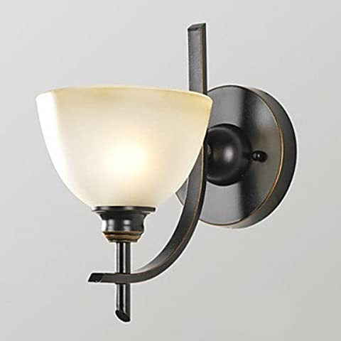 ASNSWDC® Mini luce della parete, 1 Luce, Classic American Style Ferro Vetro elaborazione pittura , 220-240V